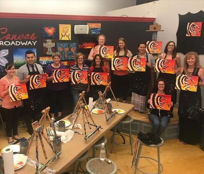 SERVPRO of Columbia Client Appreciation Canvas Painting